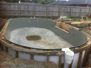 bond beam boxed ready for concrete