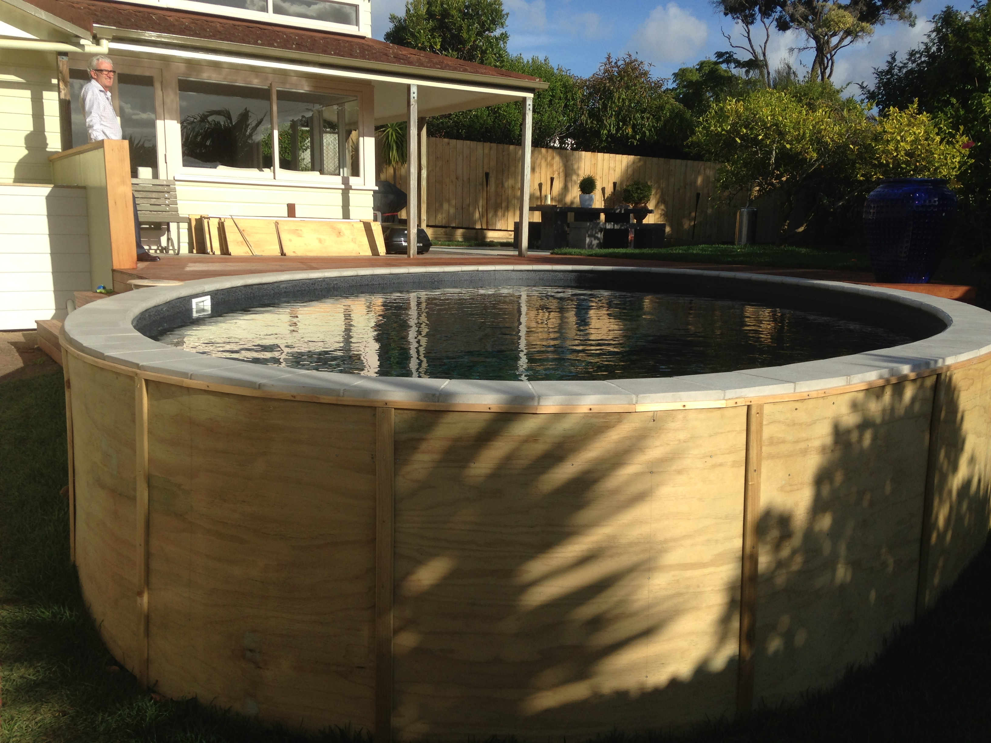 This Is An Above Ground Pool Yet Decked From The Entrance Side