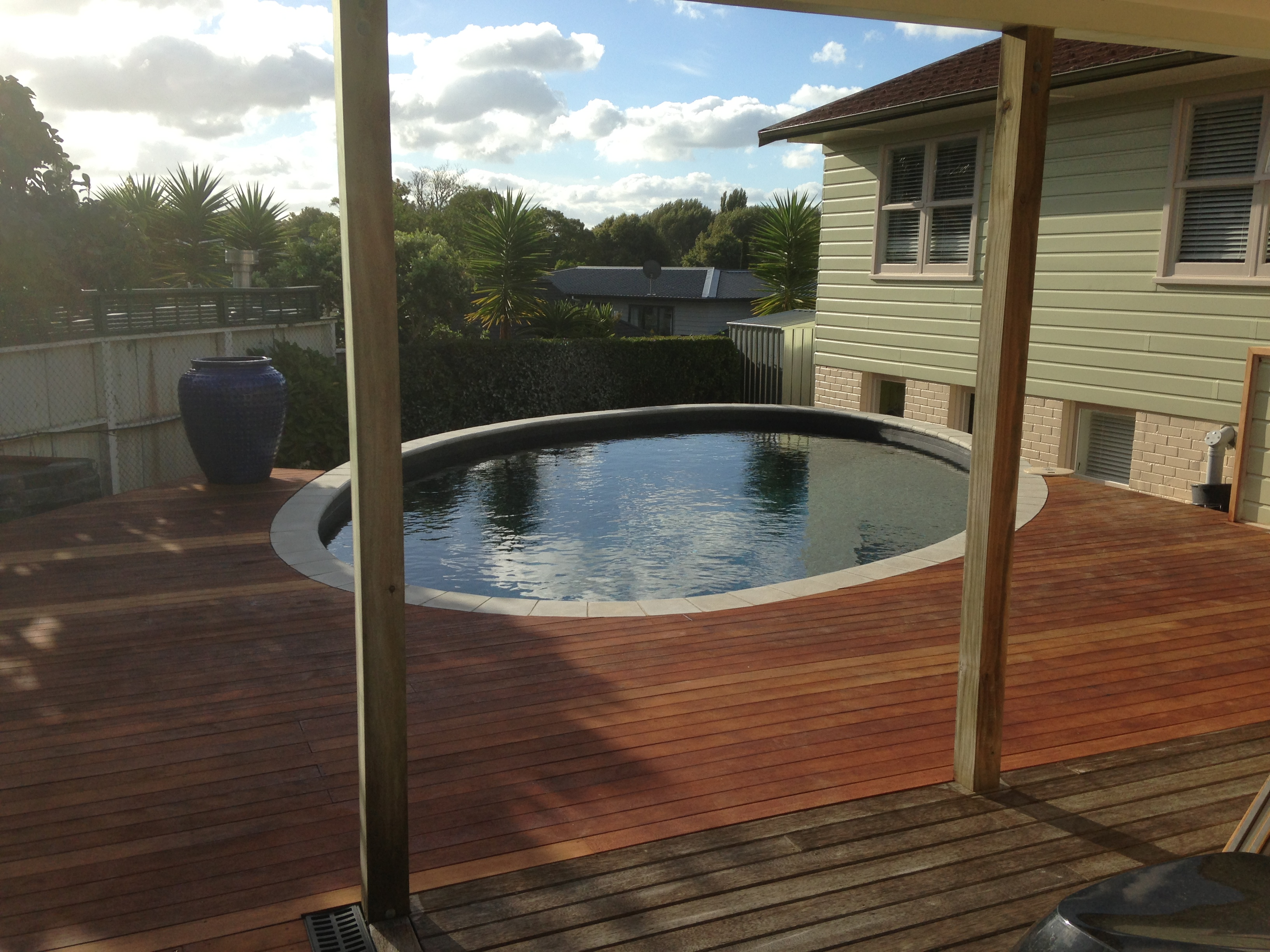 Swimming Pool Builder Auckland Completed Delux Pool