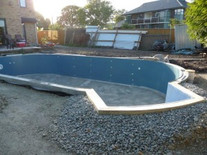 New Finishrite swimming pool